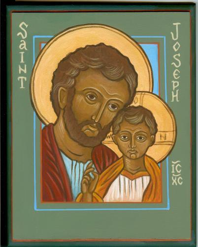 Jesus and St Joseph (SOLD)